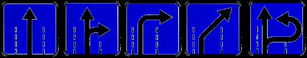 Знак Направления движения по полосе